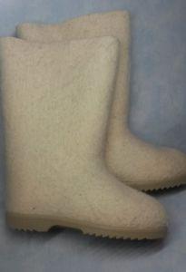 Валенки самовалки на ТЭП подошве белые меринос
