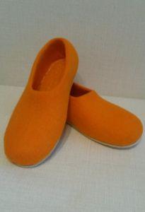 Тапочки валяные оранжевые
