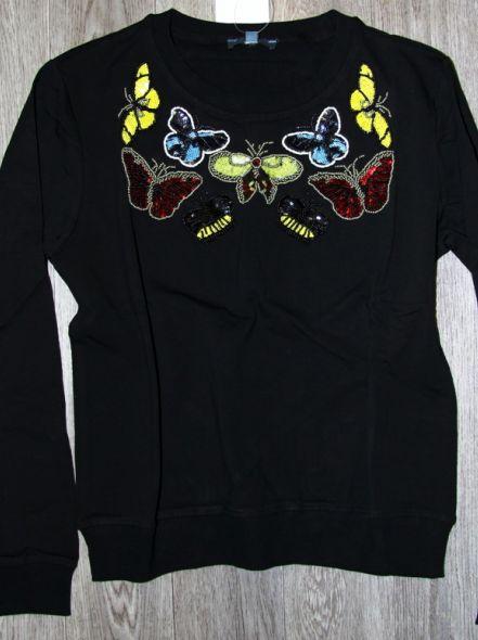 Толстовка Бабочки черная