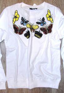Толстовка Бабочки белая