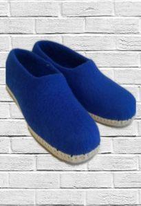 Войлочные тапочки синие