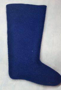 Валенки классические  самовалки синие