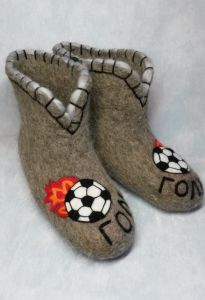 Валенки домашние Футбол