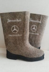 Валенки именные Mercedes-benz