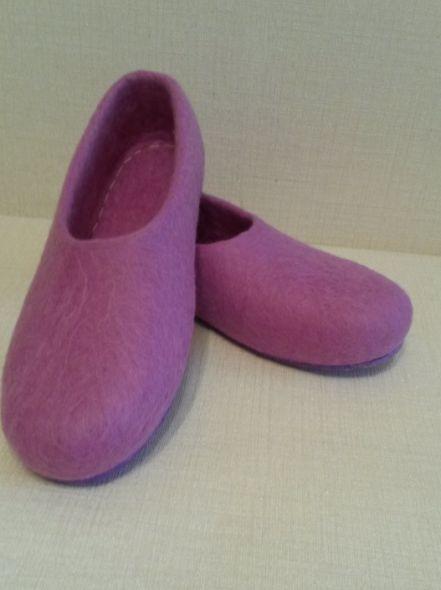 Тапочки валяные фиолетовые