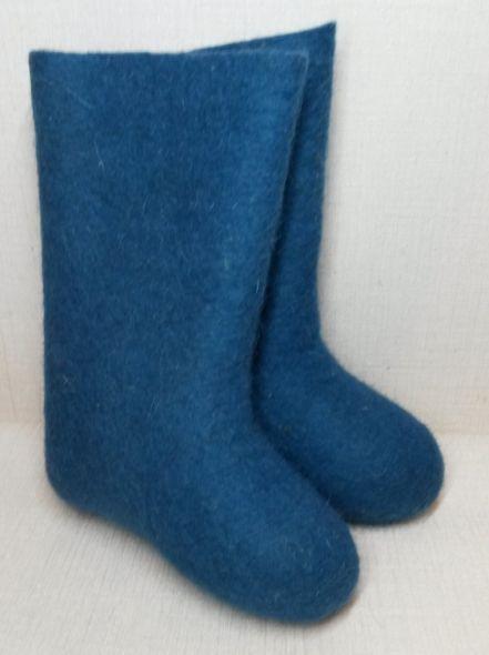 Валенки самовалки синие