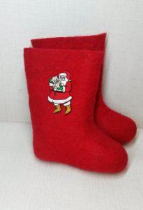 Валенки красные Дед Мороз