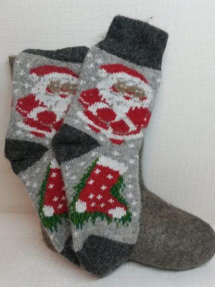 Носки шерстяные Дед Мороз