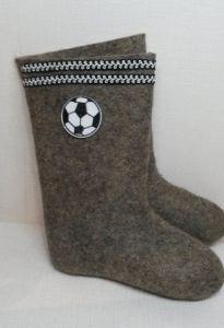 Валенки Футбол серые