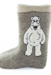 """Валенки самовалки """"Белый медведь"""""""