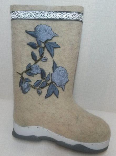 Валенки Голубые розы