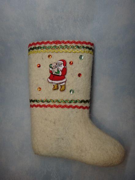 Детские валенки Дед Мороз
