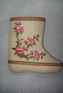 """Валенки дизайнерские """"Лиана розовая""""  размер 27( 40)"""