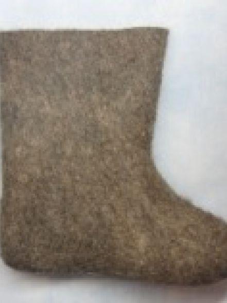 Валенки укороченные серые