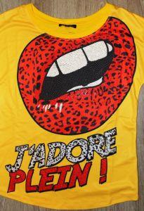 "Футболка J""ADORE PLEIN желтая"